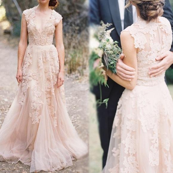 AVA Dresses | Lace Wedding Gown Light Pink | Poshmark